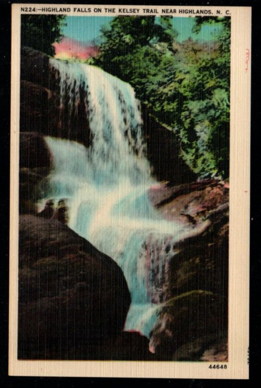 Color PC Highland Falls Kelsey Trail near Highlands, N.C., Unused