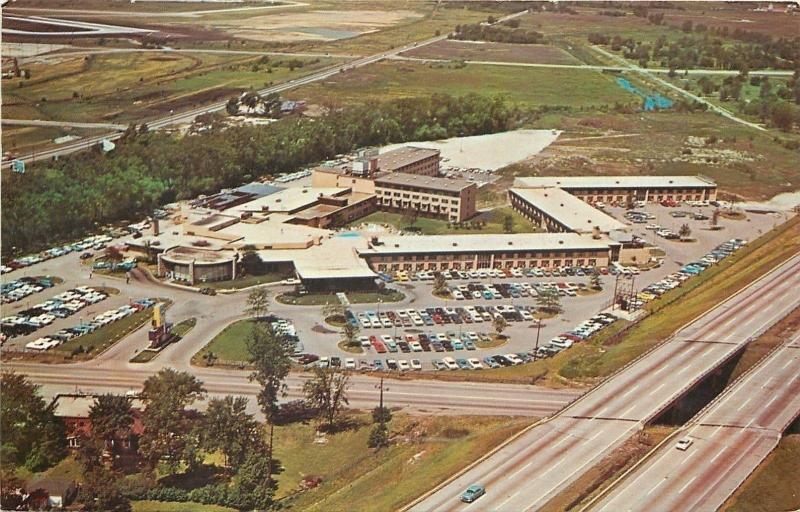 Chicago Illinois~O'Hare Inn~Aerial View~1950s Penrod Studio Postcard
