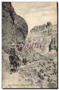 Old Postcard Militaria Chasseurs d & # 39Afrique in the mountains