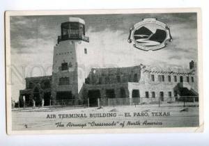 138266 USA Texas EL PASO Air Terminal Building AIRPORT Vintage