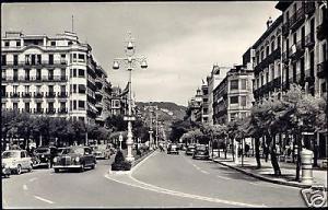 spain, SAN SEBASTIAN, Avenida de España, Car 1962 RPPC