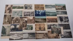 Group of 30 Siracusa Syracuse Italy Ruins Scenic Views Antique Postcards J75179