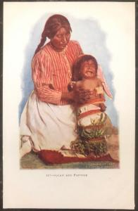 Mint USA PPC Picture Postcard Native American Squaw Indian & Pappose