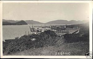indonesia SUMATRA Aceh SABANG Bay Activity (1920s) RPPC