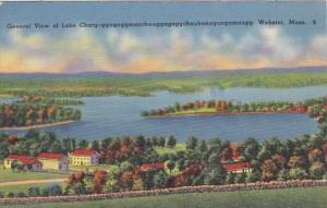 Massachusetts Webster General View Of Lake Chargoggag