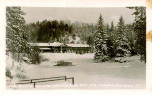 Canada - Quebec, Ste Marguerite Station, The Alpine Inn.  *RPPC