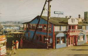 MONTEREY , California , 1940-50s ; Colorful Fisherman's Wharf