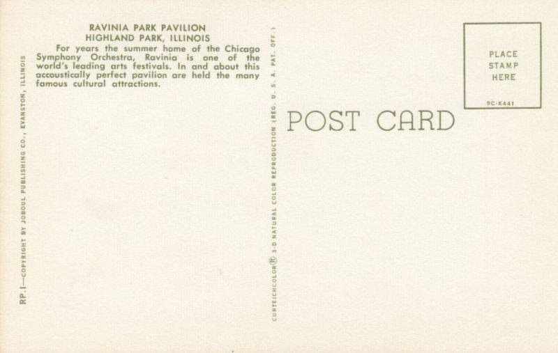 HIGHLAND PARK , Illinois , 1950-60s ; Ravinia Park Pavilion