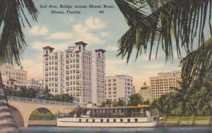 Florida Miami 2nd Avenue Bridge Across Miami River