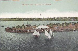 BELLEVILLE , Ontario , Canada , 1900-10s; Victoria Park, Sailboats