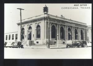 RPPC CORSICANA TEXAS DOWNTOWN STREET SCENE OLD CARS REAL PHOTO POSTCARD