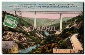 Old Postcard Viaduct highest Fades d & # 39Europe