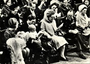 Dutch Queen Juliana, Crown Princess Beatrix, Baptism Prince Johan Friso (1968)