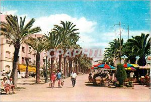 Postcard Modern Lioret de Mar (Costa Brava) Promenade Sea