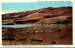 Colorado San Luyis Valley Great Sand Dunes 1947 Curteich