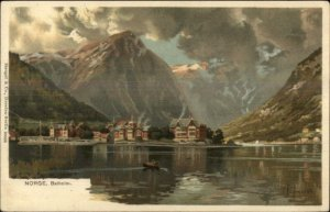 Norge Norway Balholm Stengel & Co Lithograp c1900 UDB Postcard