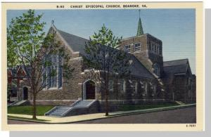 Roanoke, Virginia/VA Postcard, Christ Church, Near Mint!