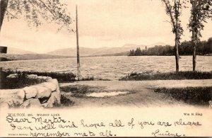 Maine Wilton View Of Wilson Lake 1906 Tucks