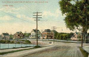MA - Lynn. Flax Pond, at Junction of Maple Street & Euclid Avenue