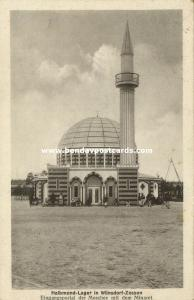 germany, WÜNSDORF-ZOSSEN, WWI Half Moon POW Camp Mosque (1917) Islam