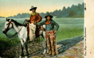 Two Boys of the Southwest-- A Cowboy and Indian Boy