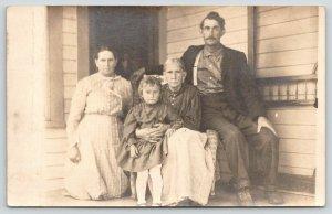 Neoga Cumblerland Illinois~4 Generations~Eli J Goodwin~Ella~Beals~c1910 RPPC