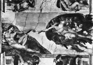 Italy Citta del Vaticano, Sixtine Chapel The creation of the Man
