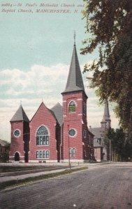 MANCHESTER , New Hampshire, 1900-10s ; ME & Baptist Churches