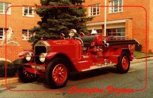Virginia Covington Volunteer Fire Department American LaFrance 1927 Pumper Fi...