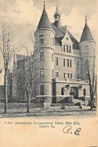 SCRANTON PA~INT'L CORRESPONDENCE SCHOOL-MAIN BLDG~1900s ROTOGRAPH PHOTO POSTCARD