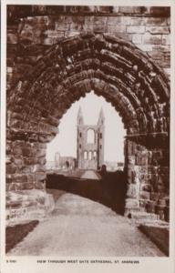 England St Andrews View Through West Gate Cathedral Real Photo