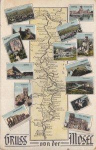 Germany Gruss Von Der Mosel Multi View & Map sk3270