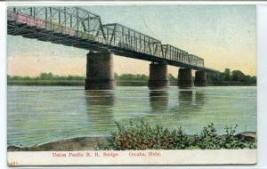 Union Pacific Railroad Bridge Omaha Nebraska 1909 postcard