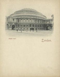 london, Albert Hall (1899) Court Card