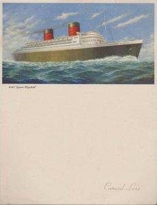 Cunard Line Steamer R.M.S. Queen Elizabeth Farewell Dinner Menu, August 1953