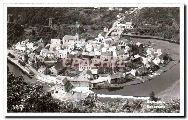 Postcard Modern Luxembourg Esch sur Sure Panorama
