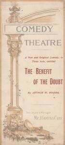 The Benefit Of The Doubt Arthur Pinero London Comedy Antique Victorian Theatr...