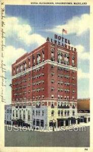 Hotel Alexander Hagerstown MD 1948