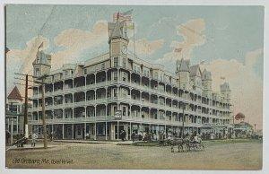 Old Divided Back Era Postcard Hotel Velvet, Old Orchard, Maine, Unused Fair