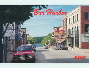Unused 1980's OLD CARS & SHOPS Bar Harbor Maine ME v3647