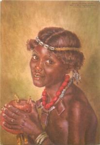 Boran girl african ethnic Nairobi Kenya - Joy Adamson
