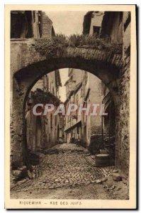 Old Postcard Riquewihr Street of the Jews