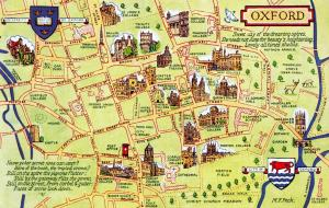 Vintage UK England Map Postcard, Oxford by J. Salmon Ltd 56D