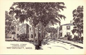 Massachusetts Mattapoisett Cannon Street Looking North