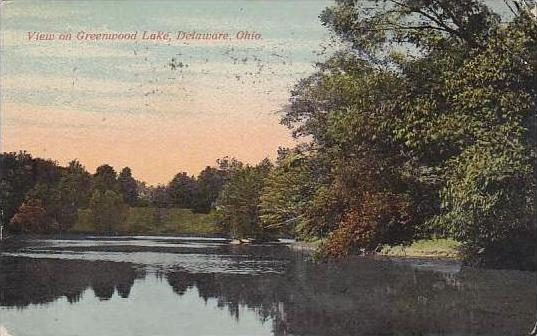 Ohio Delaware View On Greenwood Lake 1915