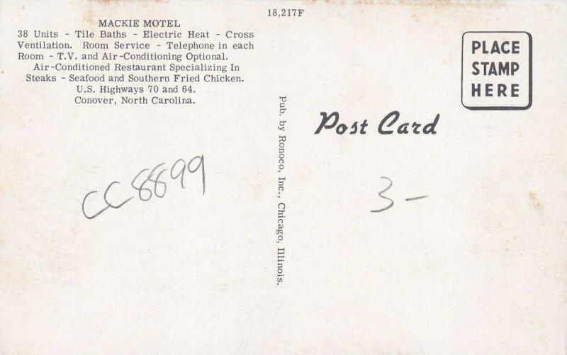 CONOVER, North Carolina, 1950-1960s; Mackie Motel And Restaurant
