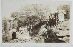 Rppc Barac and Philathea Class Posing at the Falls So Hamilton c1910 Postcard P3