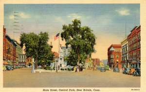 CT - New Britain. Main Street, Central Park
