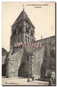 St Rambert sur Loire - L & # 39Eglise - Old Postcard
