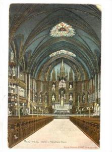 Interior Of Notre Dame Church, Montreal (Quebec), Canada, PU-1954